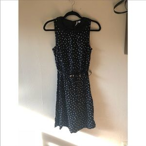 ELLE Black and white polka dot dress